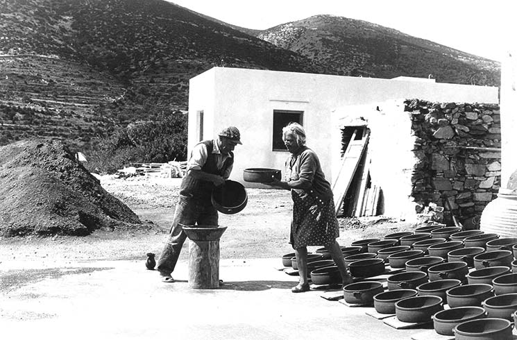 The traditional pottery workshop of Kapnisis